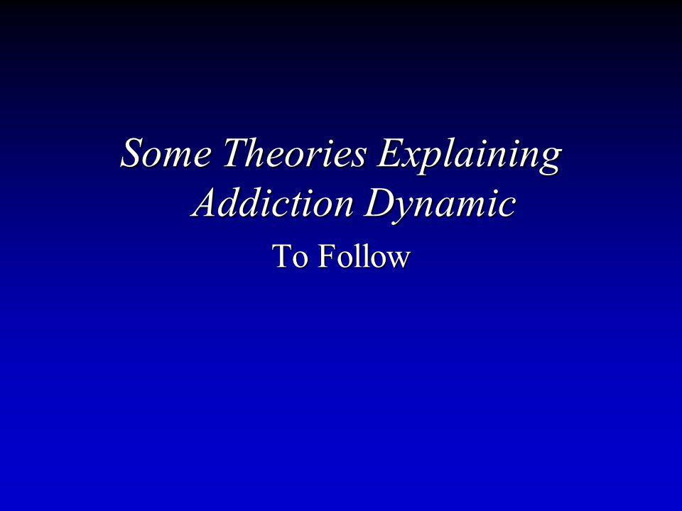 Some Theories Explaining Addiction Dynamic