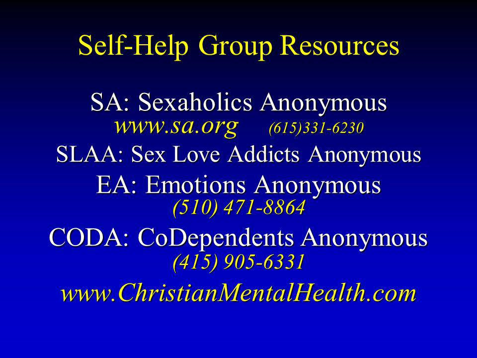 Self-Help Group Resources