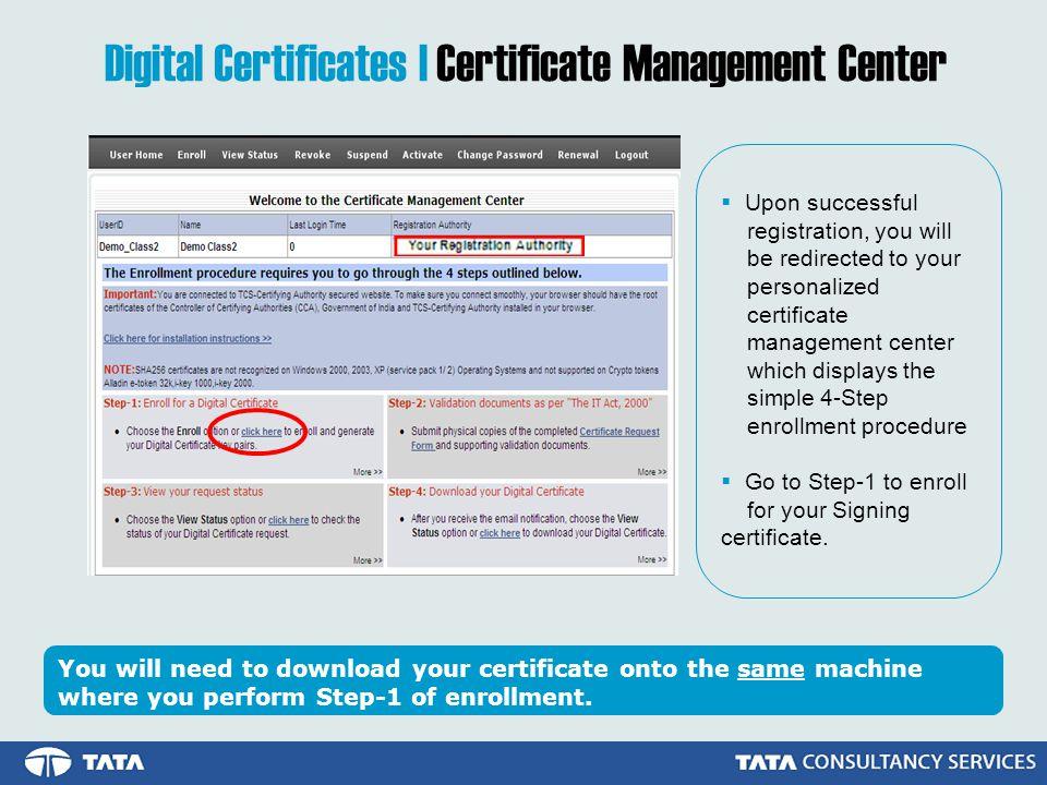 Digital Certificates | Certificate Management Center
