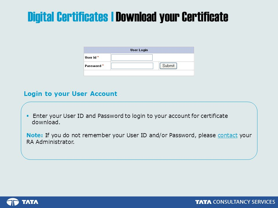 Digital Certificates | Download your Certificate