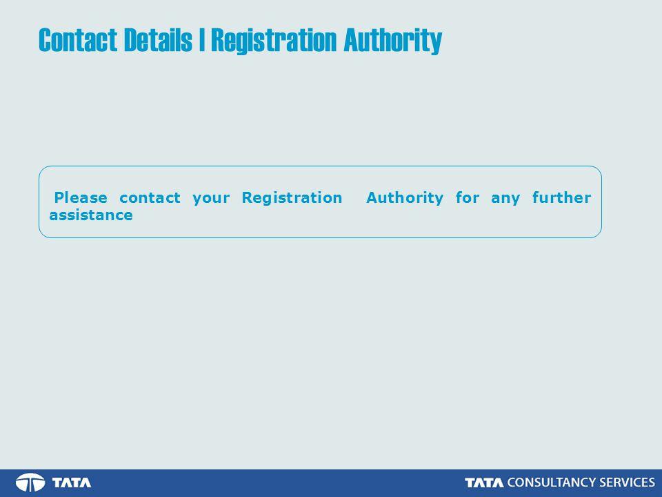 Contact Details | Registration Authority