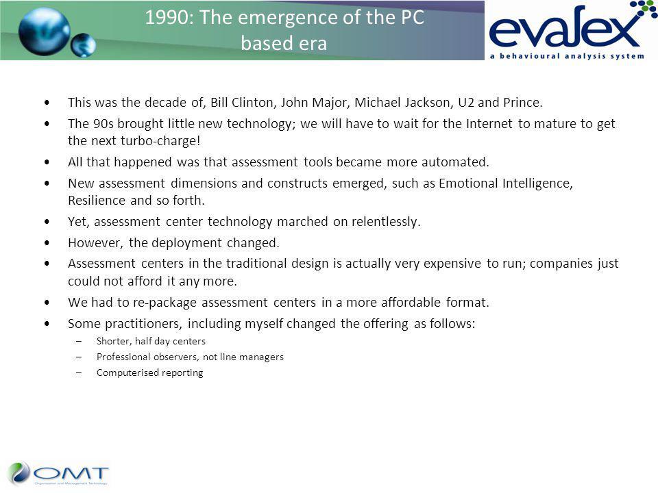 1990: The emergence of the PC based era