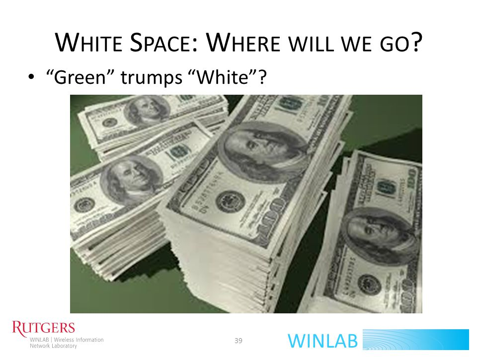White Space: Where will we go