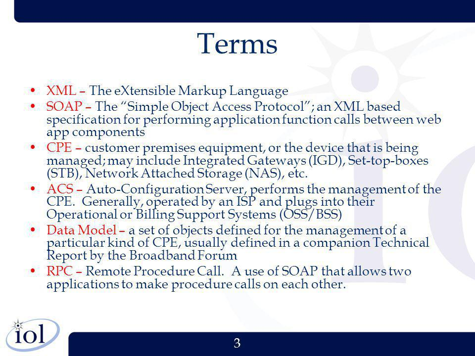 Terms XML – The eXtensible Markup Language