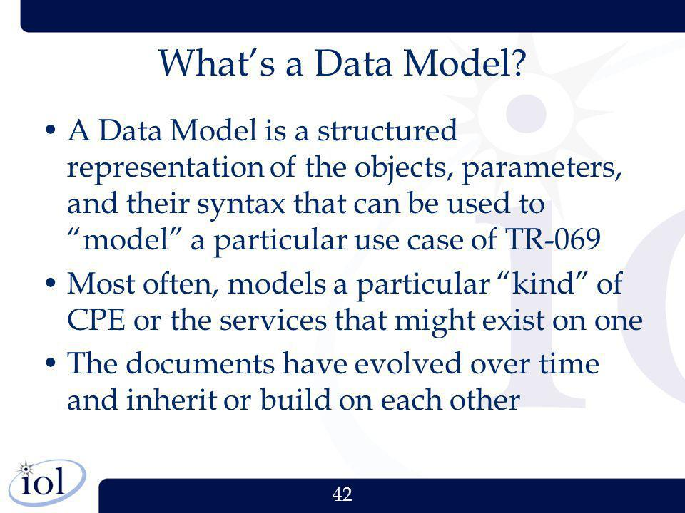 What's a Data Model