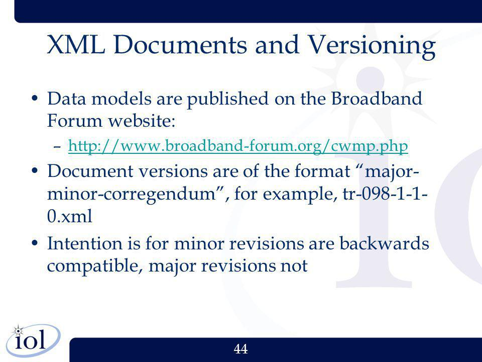 XML Documents and Versioning