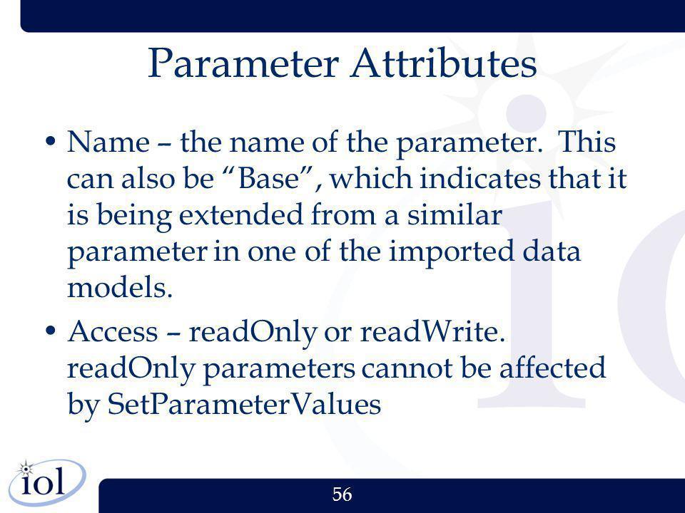 Parameter Attributes