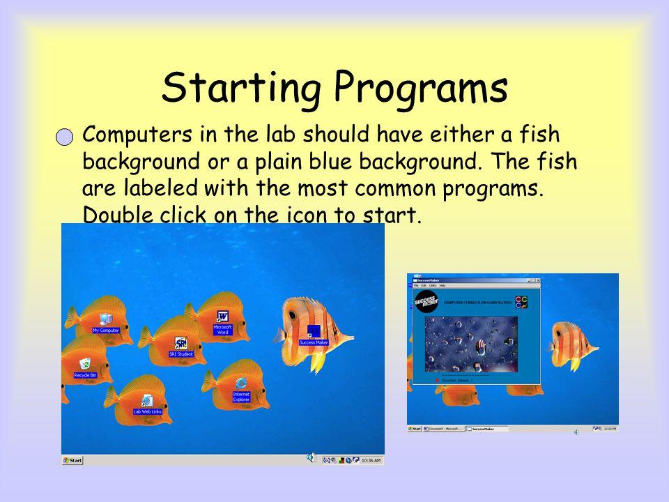 Starting Programs