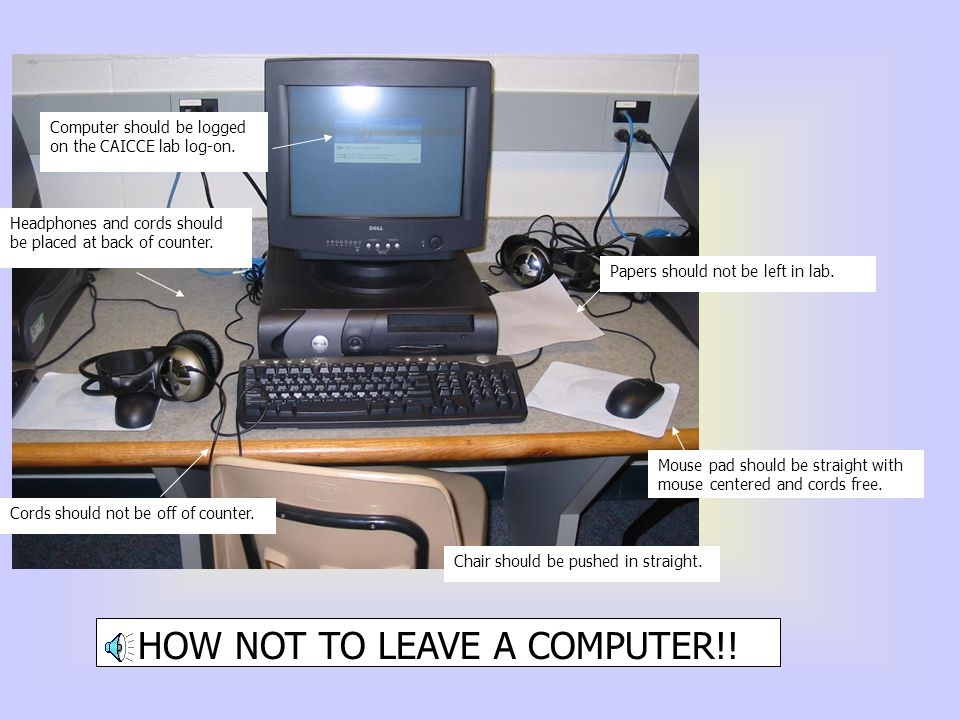 HOW NOT TO LEAVE A COMPUTER!!