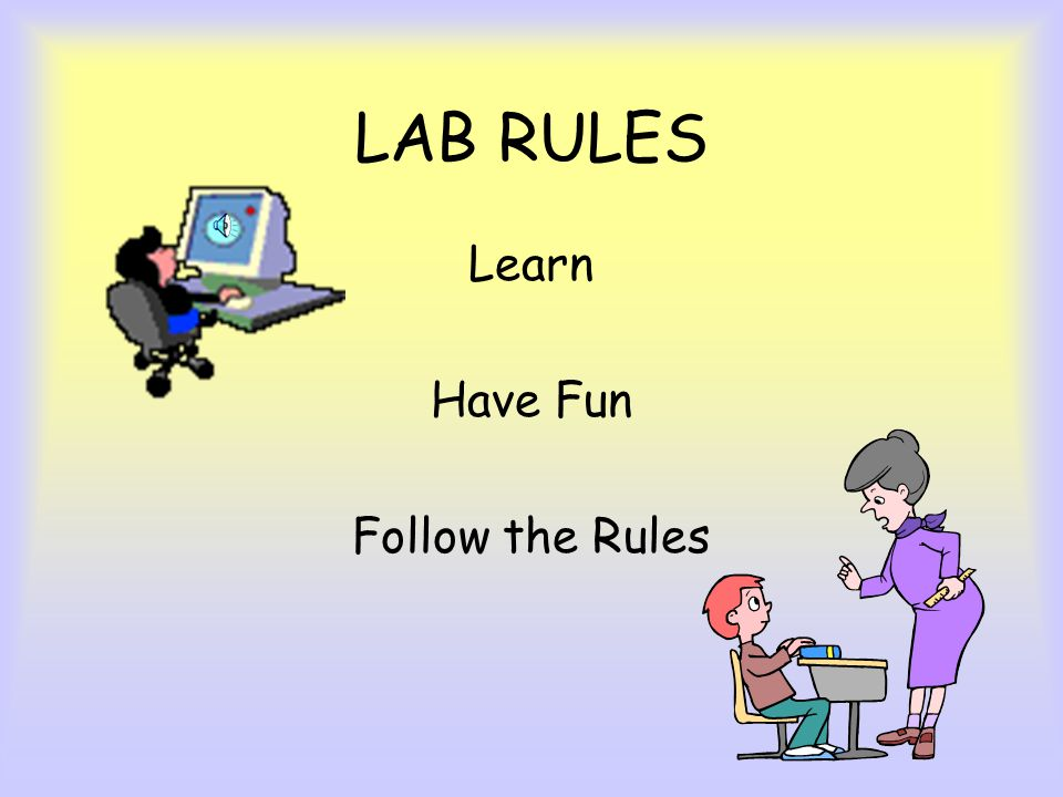 LAB RULES Learn Have Fun Follow the Rules