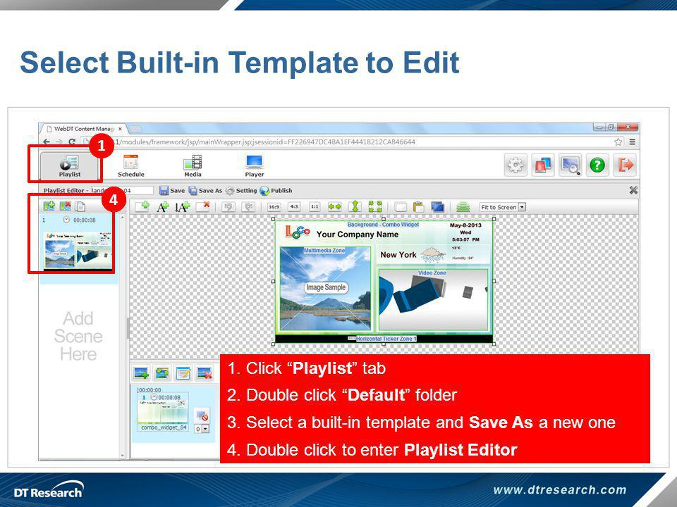 Select Built-in Template to Edit