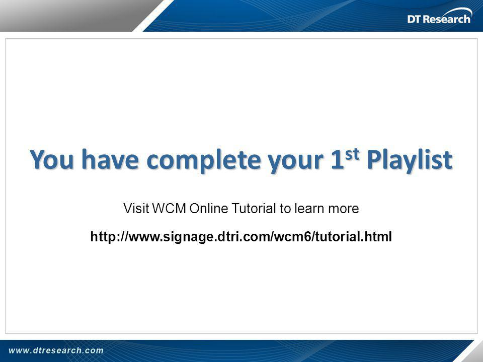 You have complete your 1st Playlist