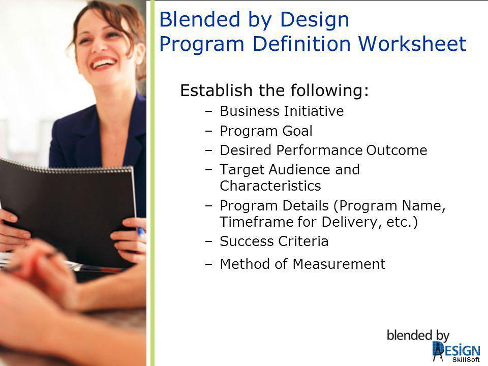 Blended by Design Program Definition Worksheet