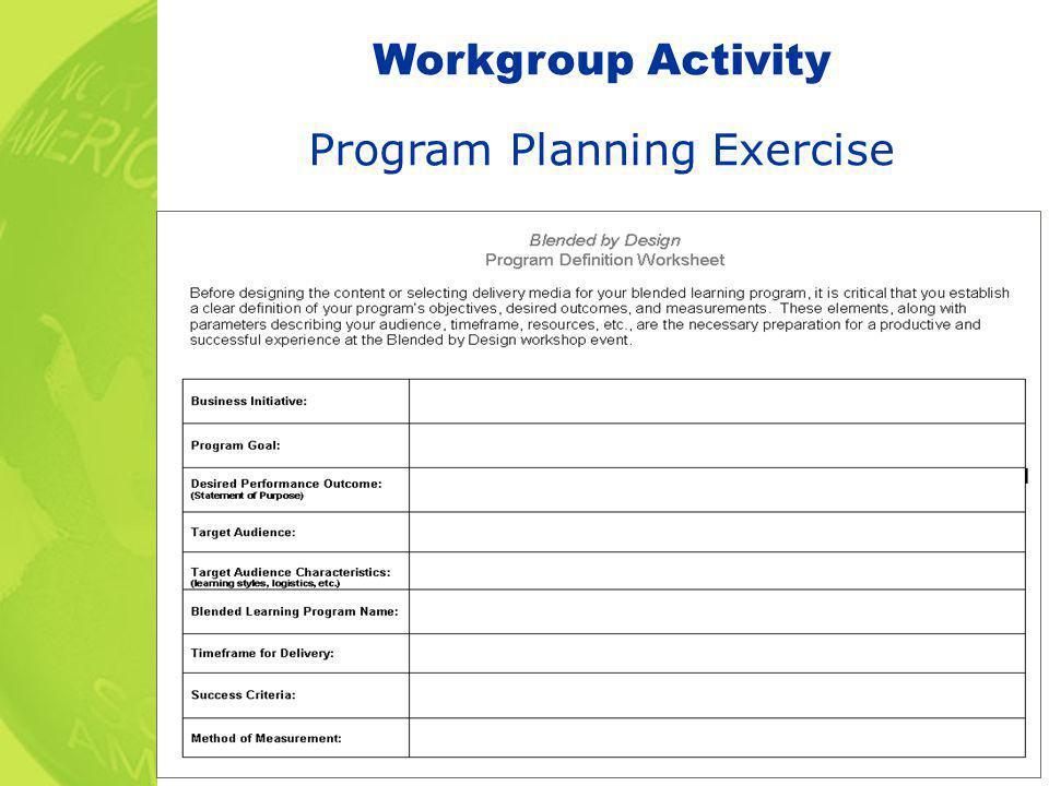 Program Planning Exercise