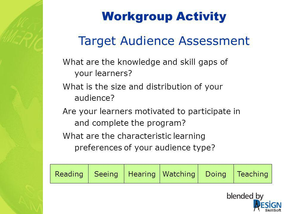 Target Audience Assessment