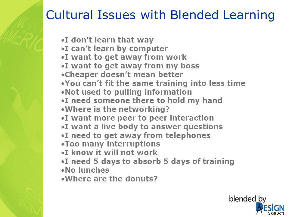 Cultural Issues with Blended Learning