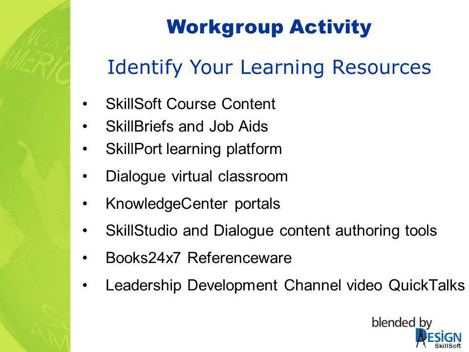Identify Your Learning Resources