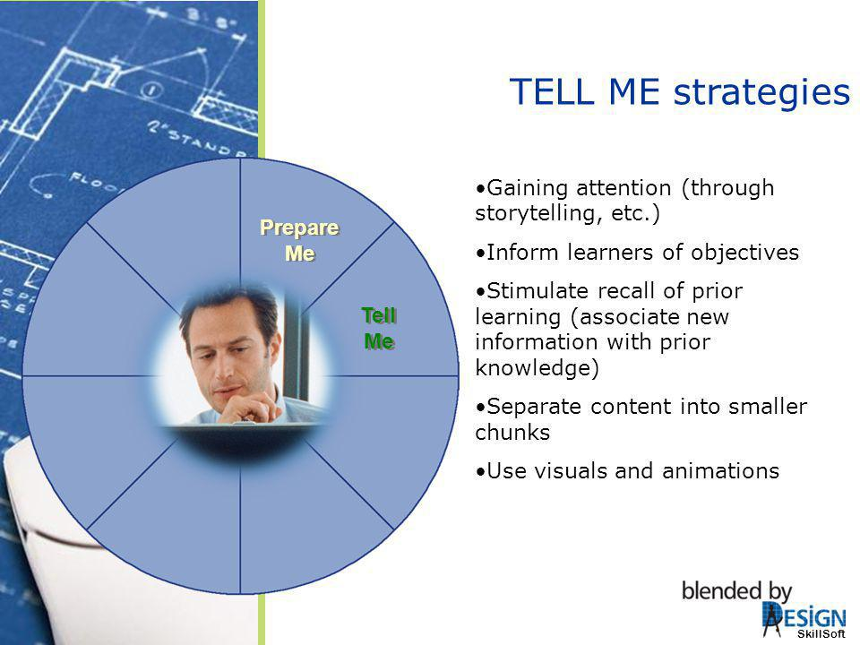 TELL ME strategies Gaining attention (through storytelling, etc.)