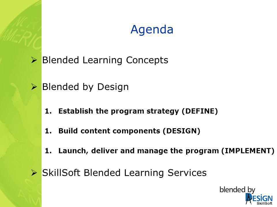 Agenda Blended Learning Concepts Blended by Design
