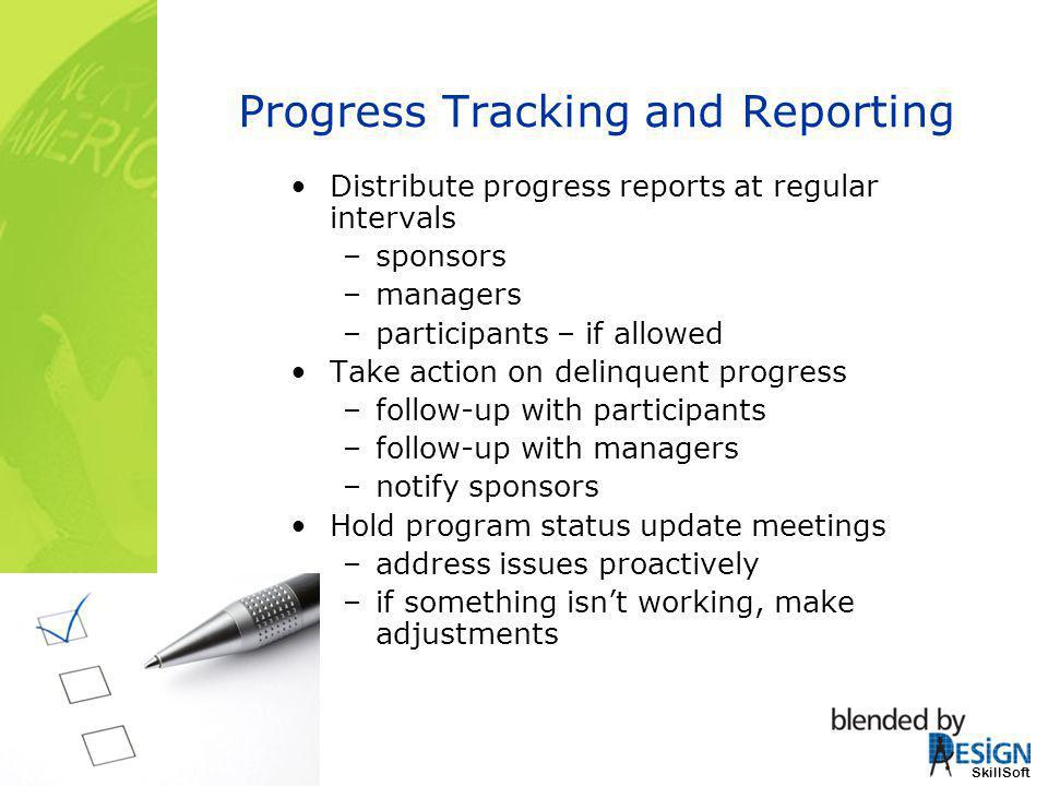 Progress Tracking and Reporting