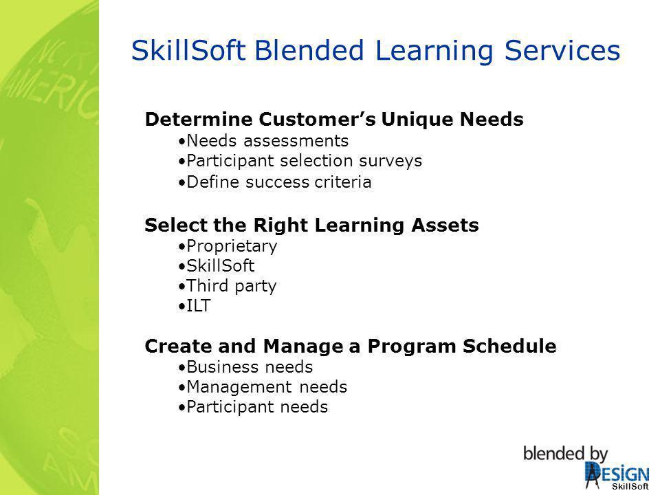 SkillSoft Blended Learning Services