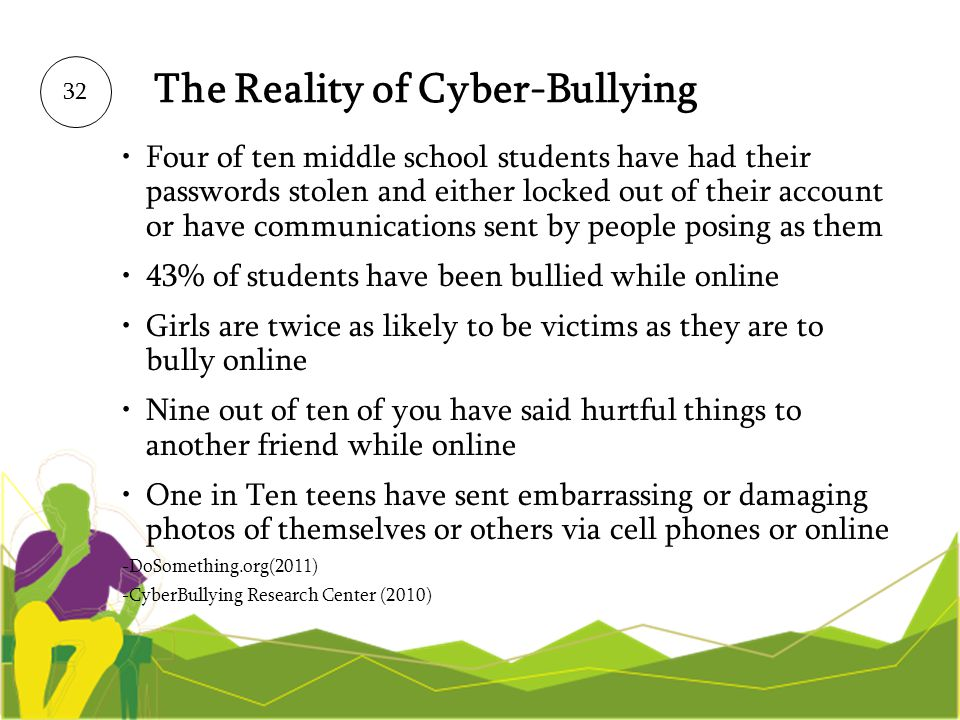 The Reality of Cyber-Bullying