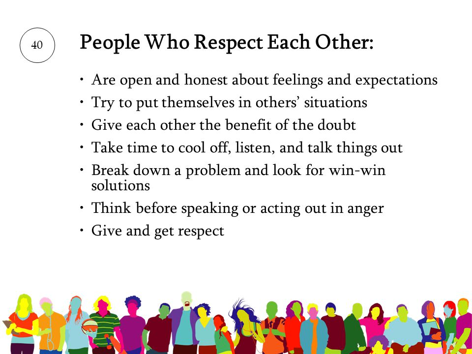 People Who Respect Each Other: