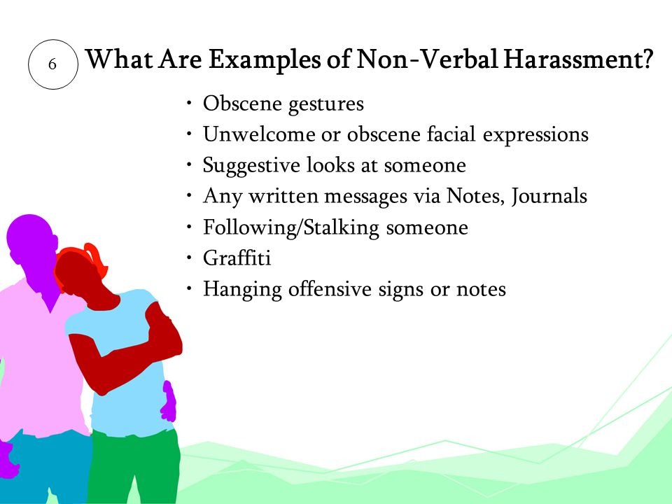 What Are Examples of Non-Verbal Harassment