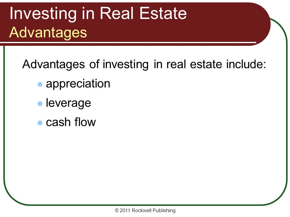 Investing in Real Estate Advantages