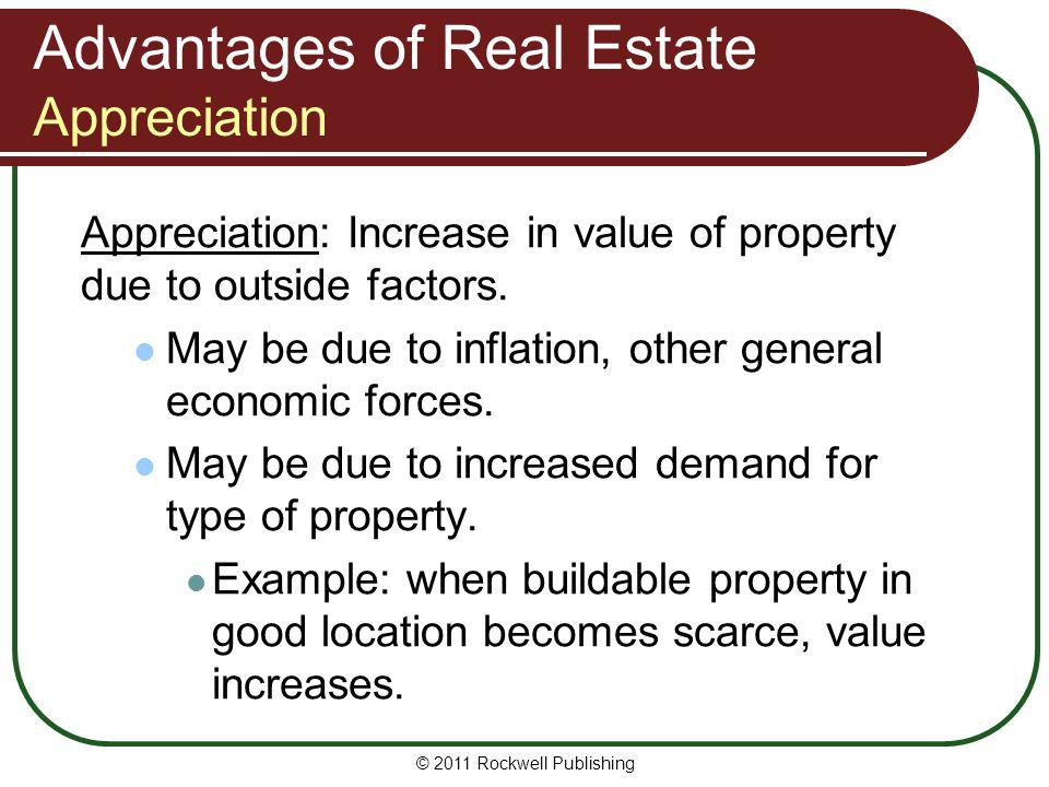 Advantages of Real Estate Appreciation