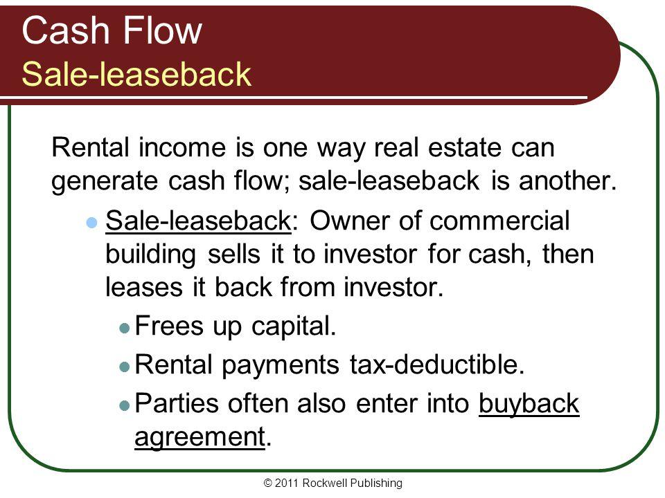 Cash Flow Sale-leaseback