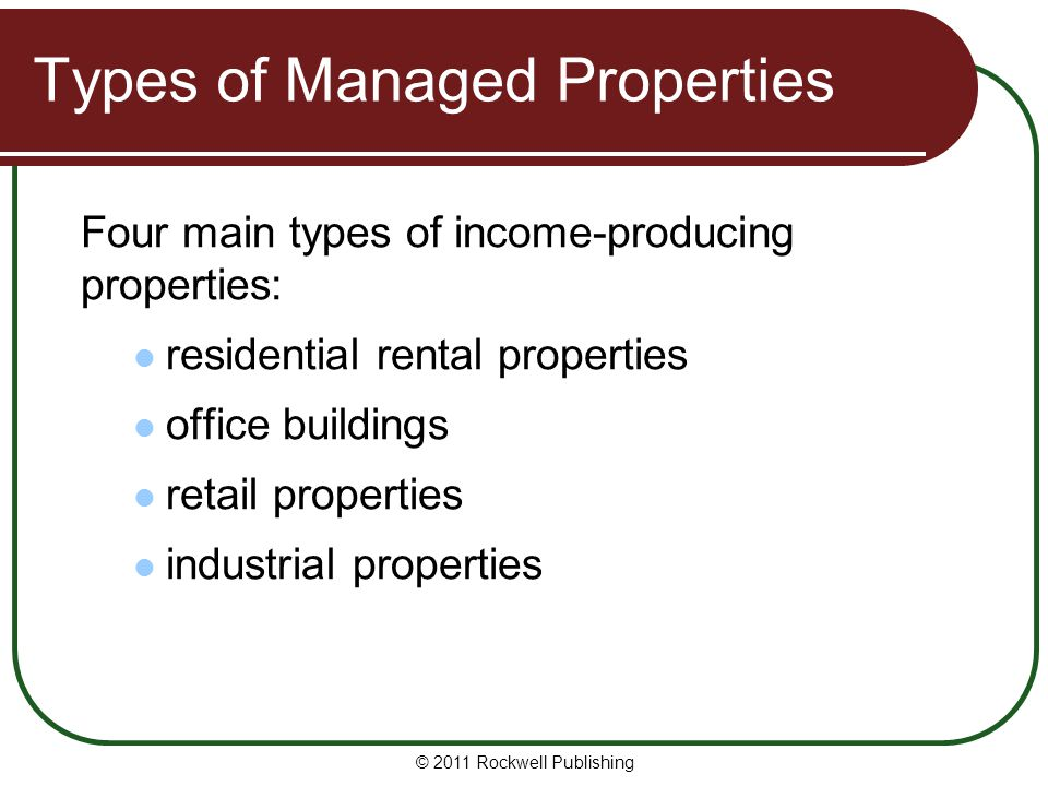 Types of Managed Properties