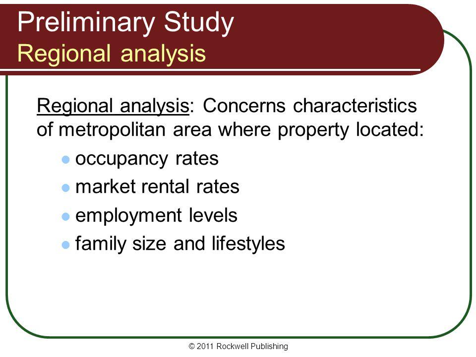 Preliminary Study Regional analysis