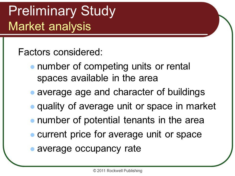 Preliminary Study Market analysis