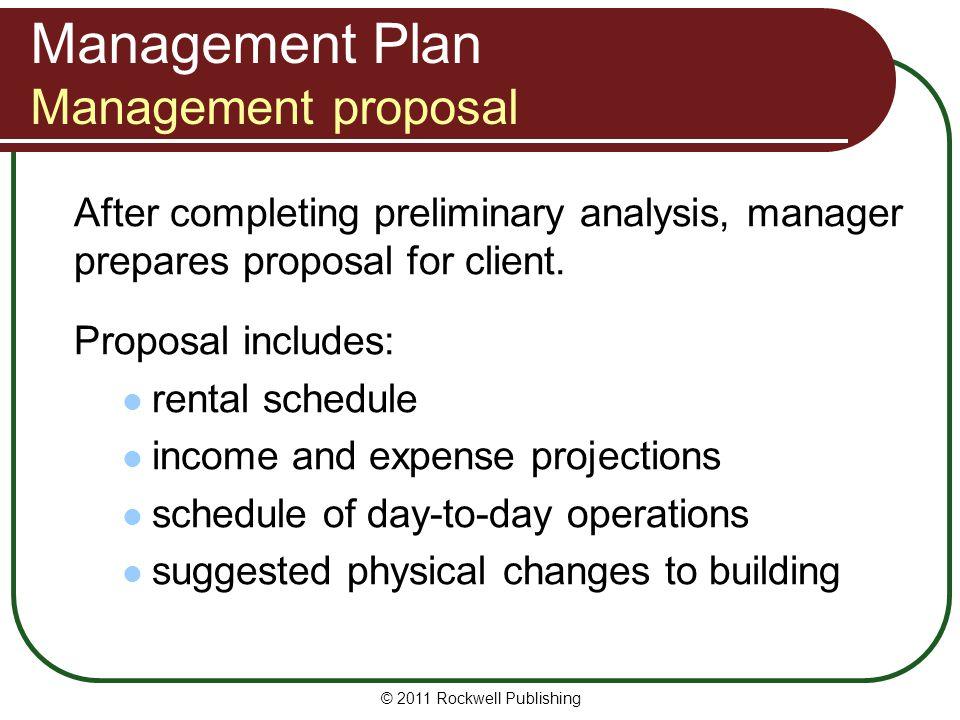 Management Plan Management proposal