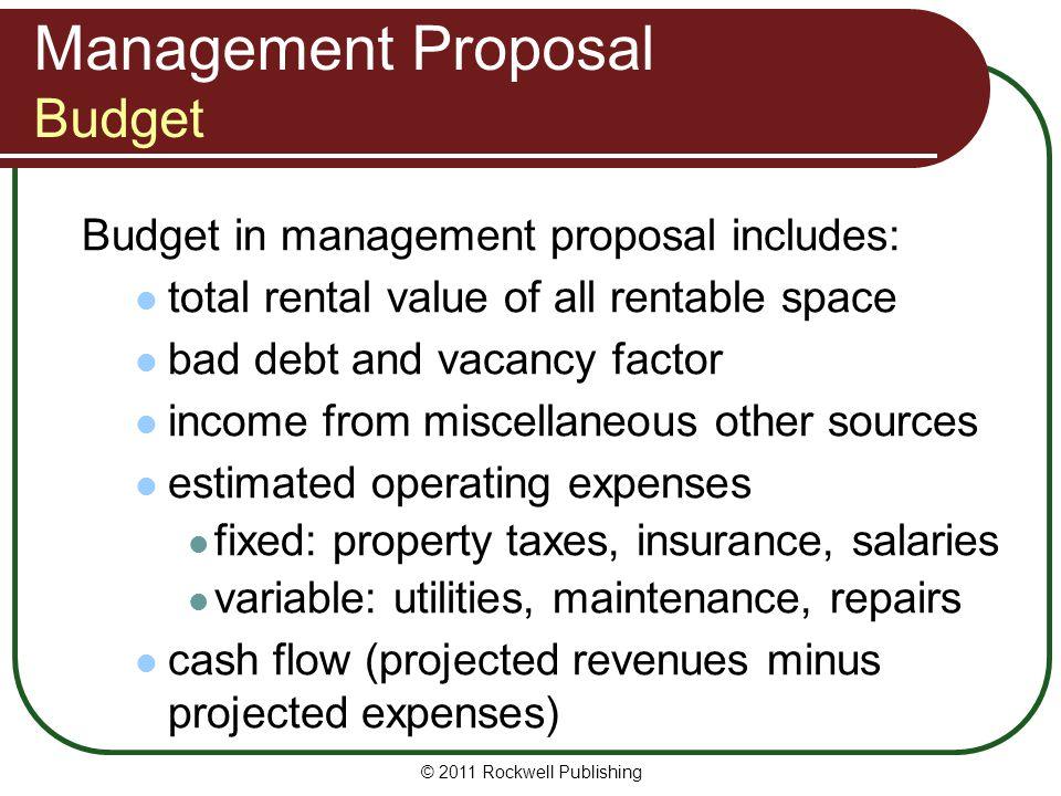 Management Proposal Budget