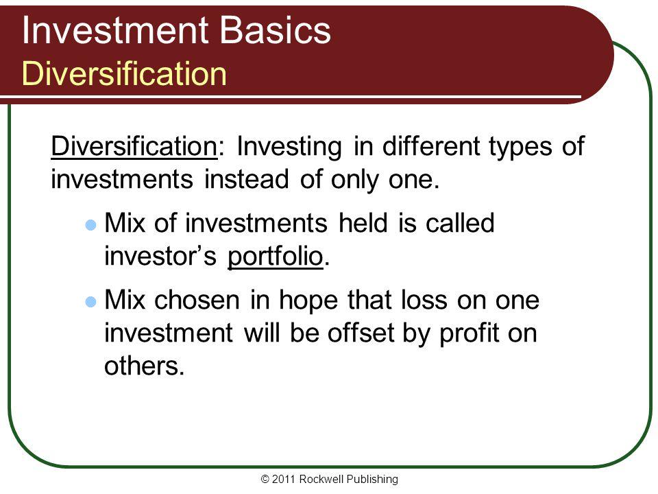 Investment Basics Diversification