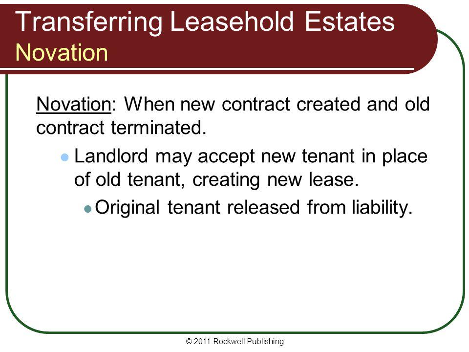Transferring Leasehold Estates Novation