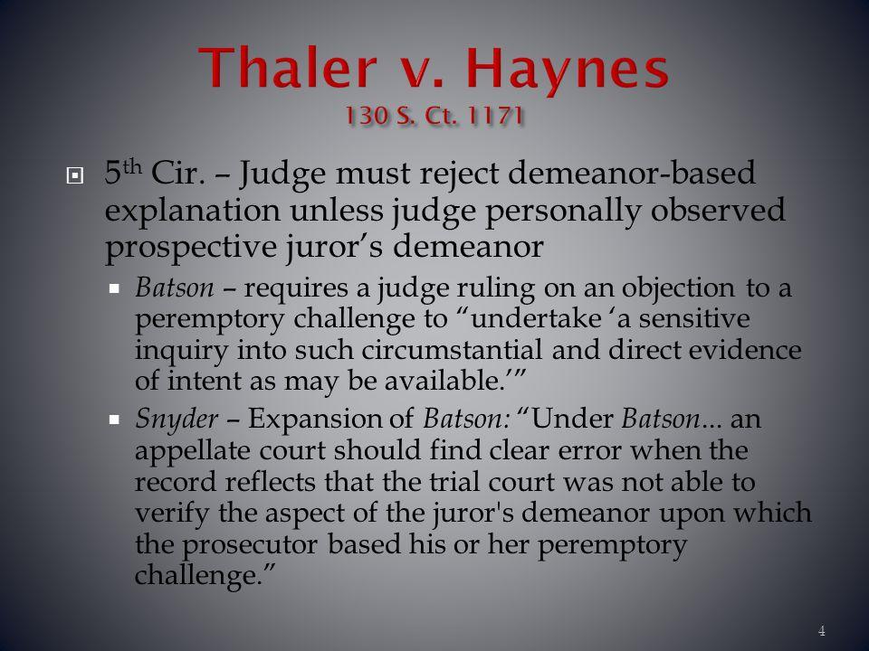 Thaler v. Haynes 130 S. Ct. 1171.