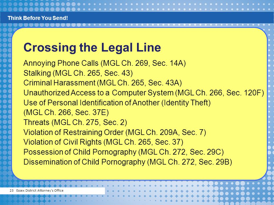 Crossing the Legal Line