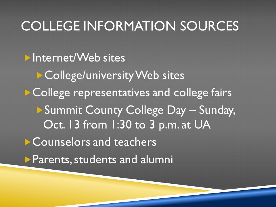 College Information Sources