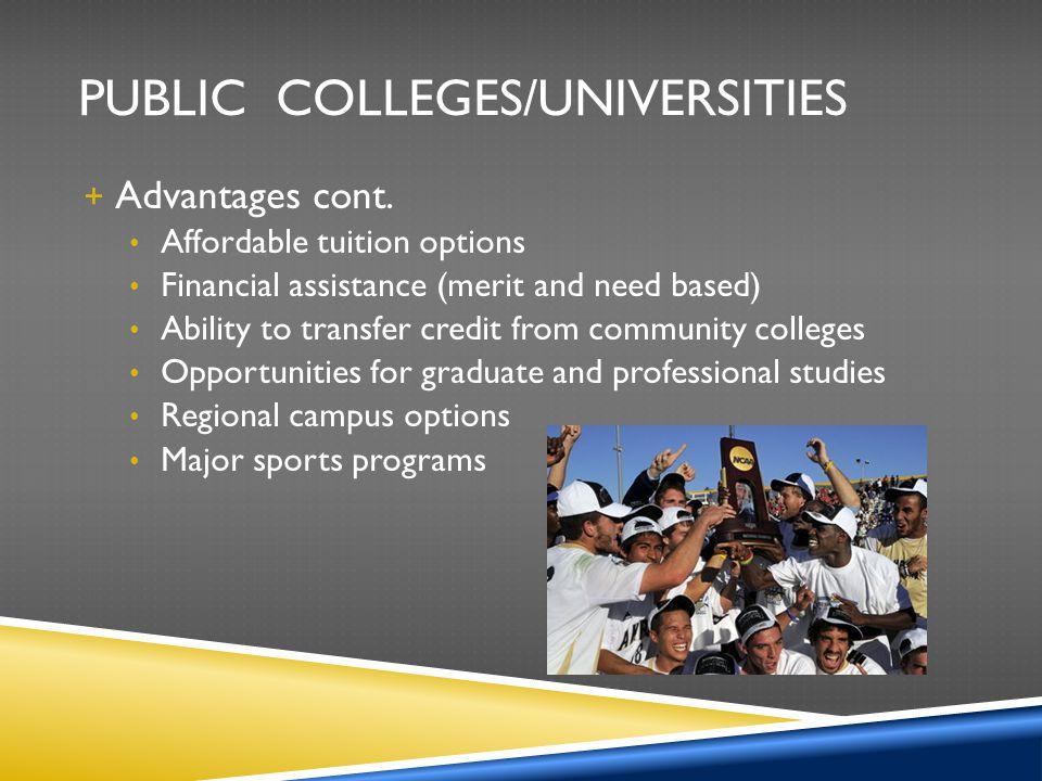 Public Colleges/Universities