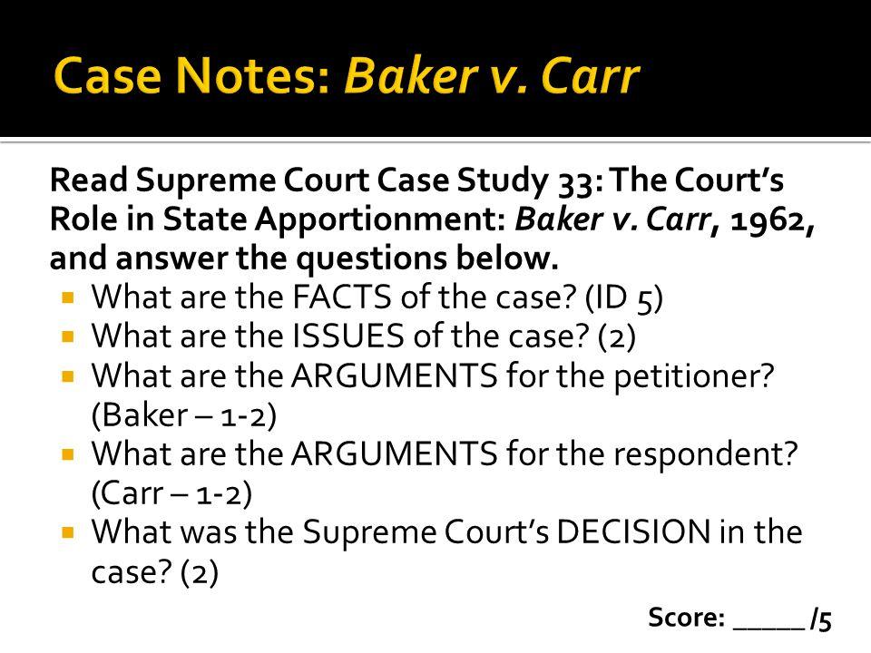 Case Notes: Baker v. Carr