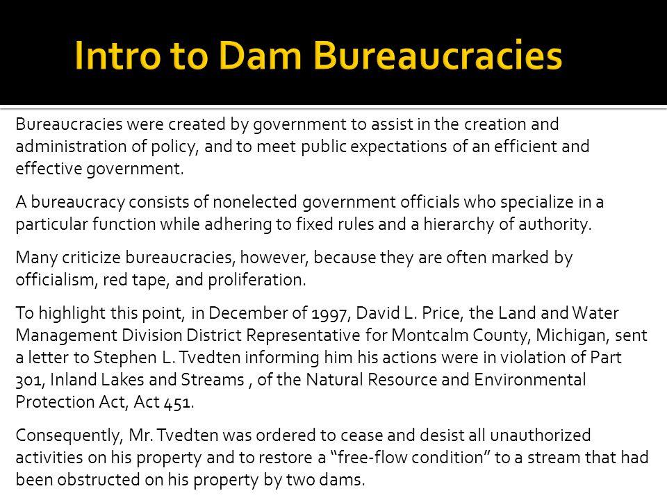 Intro to Dam Bureaucracies