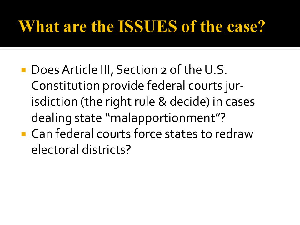 What are the ISSUES of the case