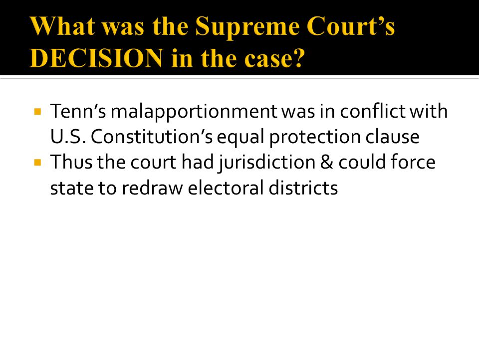 What was the Supreme Court's DECISION in the case