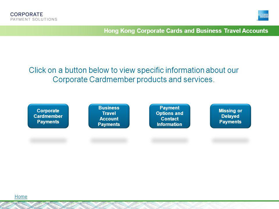 Hong Kong Corporate Cards and Business Travel Accounts