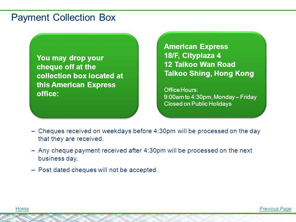 Payment Collection Box