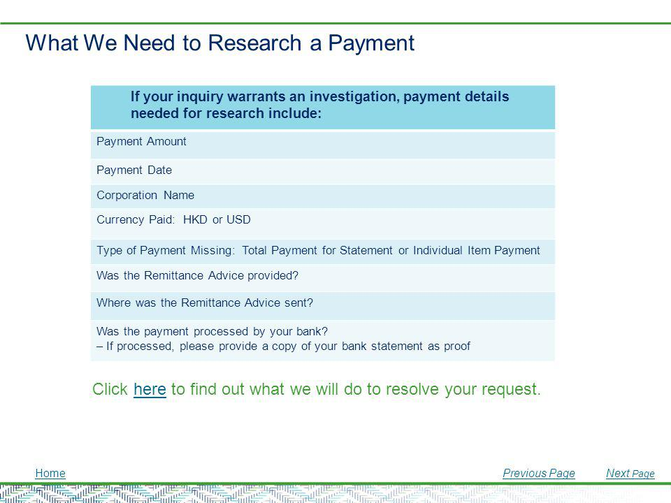 What We Need to Research a Payment