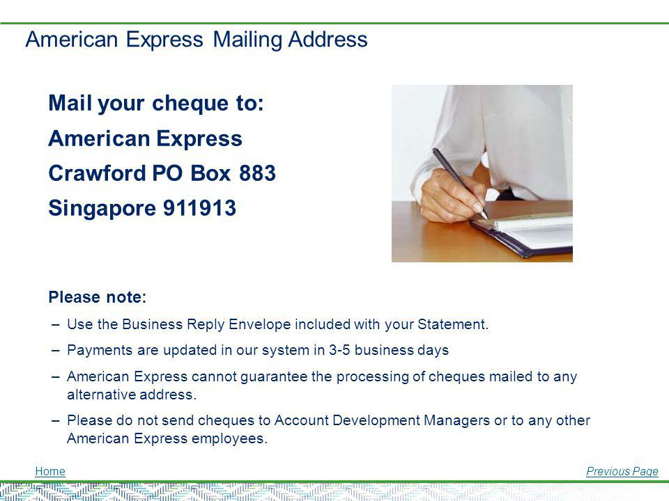 American Express Mailing Address
